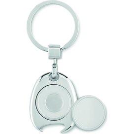 Sleutelhanger met munt Token Ring zilver