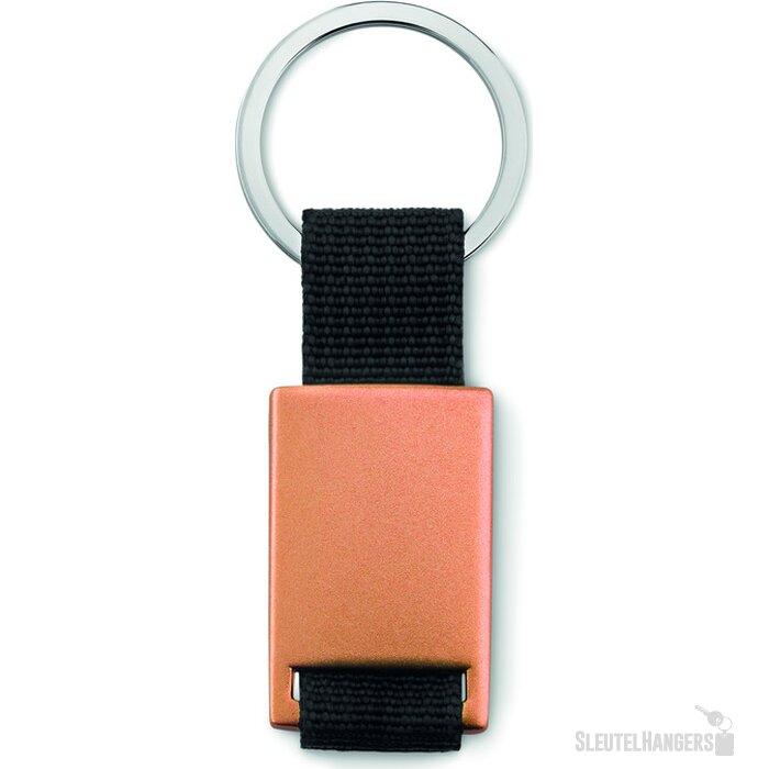 Rechthoekige sleutelhanger Tech Black Oranje