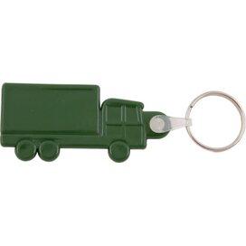 Kunststof sleutelhanger Truck donkergroen