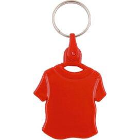 Kunststof sleutelhanger T-shirt rood