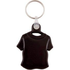 Kunststof sleutelhanger T-shirt zwart