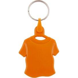 Kunststof sleutelhanger T-shirt oranje