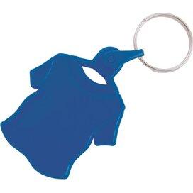 Kunststof sleutelhanger T-shirt donkerblauw