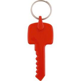 Kunststof sleutelhanger Sleutel rood