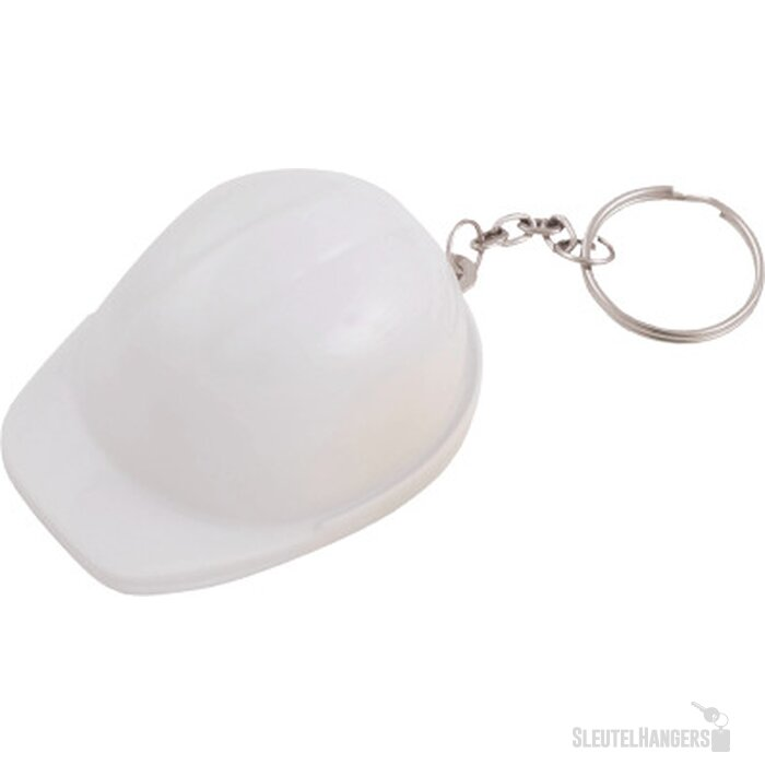 Sleutelhanger Helm met flesopener wit