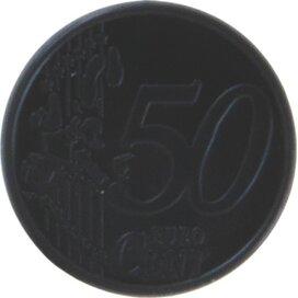 Sleutelhanger winkelwagenmunt met € 0,50 muntje zwart