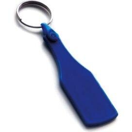 Kunststof sleutelhanger Fles SALE donkerblauw
