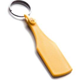 Kunststof sleutelhanger Fles SALE geel