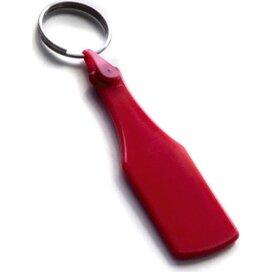 Kunststof sleutelhanger Fles SALE rood