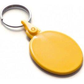 Kunststof sleutelhanger ovaal SALE geel