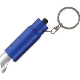 Zaklamp LED sleutelhanger met flesopener inclusief lasergravering donkerblauw