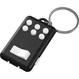 Flip en klik sleutelhanger met lampje Zwart,Wit