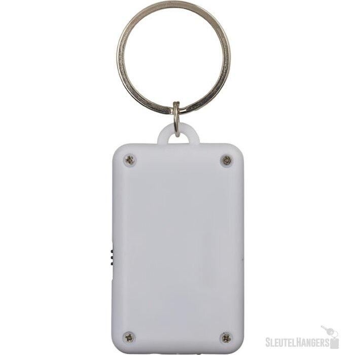 Flip en klik sleutelhanger met lampje Wit,Zwart