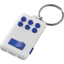 Flip en klik sleutelhanger met lampje Wit,koningsblauw