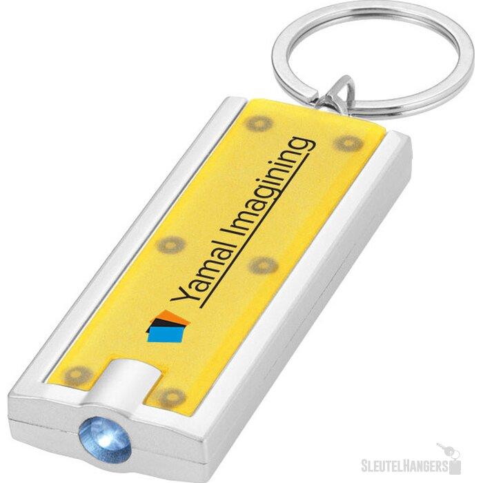 Castor zaklamp met sleutelhanger geel