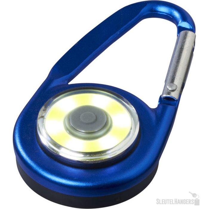 Eye karabijnhaak met COB licht koningsblauw