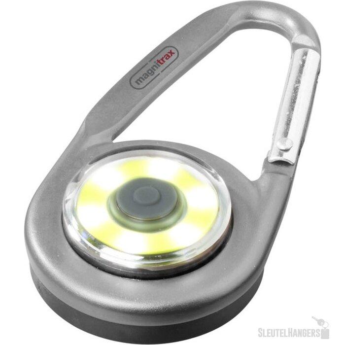 Eye karabijnhaak met COB licht Zilver