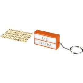 The Cinema lightbox sleutelhanger Oranje