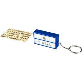 The Cinema lightbox sleutelhanger koningsblauw