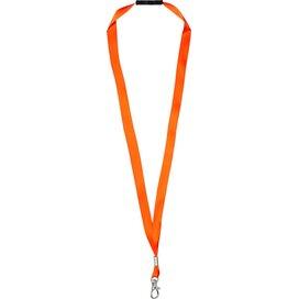 Oro linten lanyard met veiligheidssluiting Neon Orange