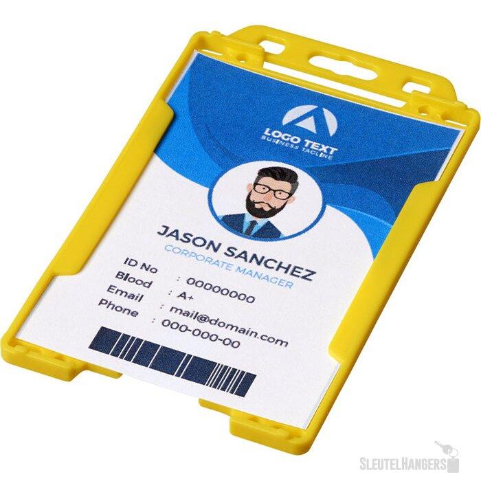 Pierre transparante badgehouder geel