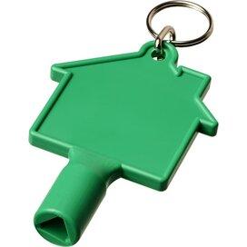 Maximilian huisvormige meterbox-sleutel met sleutelhanger Groen