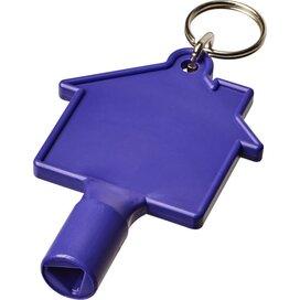 Maximilian huisvormige meterbox-sleutel met sleutelhanger Paars