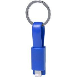 Holnier Sleutelhanger Usb Oplaadkabel (Kobalt) Blauw