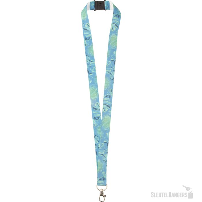 Subyard Zero Safe Custom Sublimatie Lanyard Met Safety Buckle. Wit