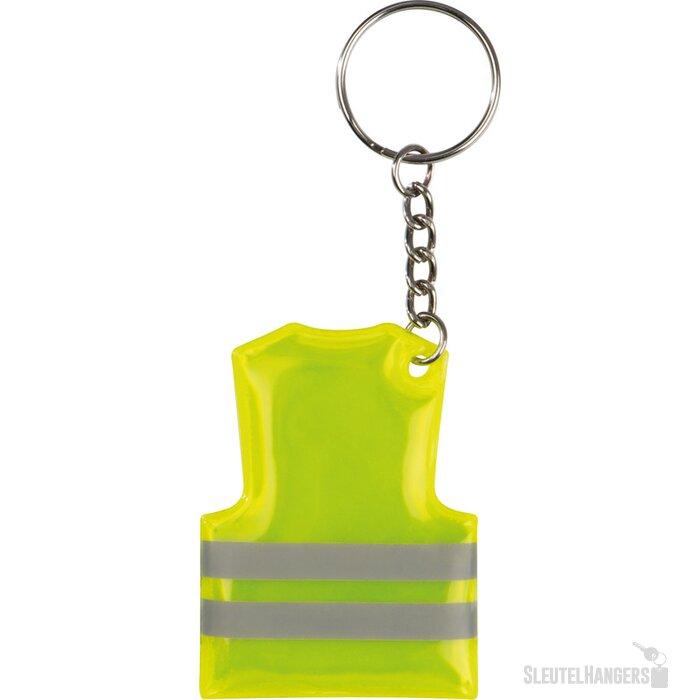 Sleutelhanger veiligheidsvest geel