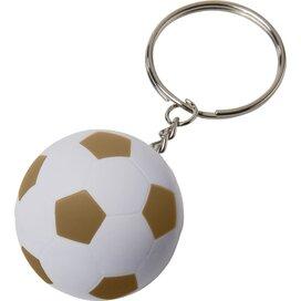 Striker voetbalsleutelhanger Wit,Goud