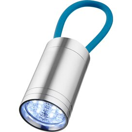 Vela 6-LED zaklamp met gloeibandje Process Blue
