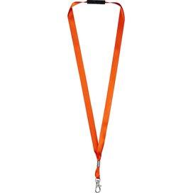 Oro linten lanyard met veiligheidssluiting Oranje