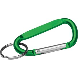 Sleutelhanger met karabijnhaak groen