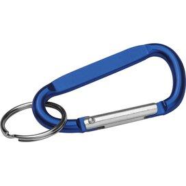 Sleutelhanger met karabijnhaak blauw