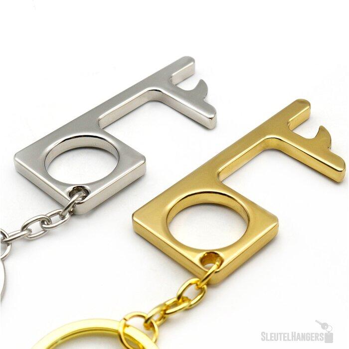 Deuropener sleutelhanger zilver
