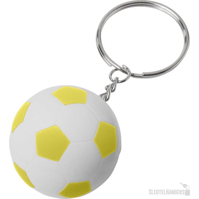 Striker voetbalsleutelhanger Wit,geel