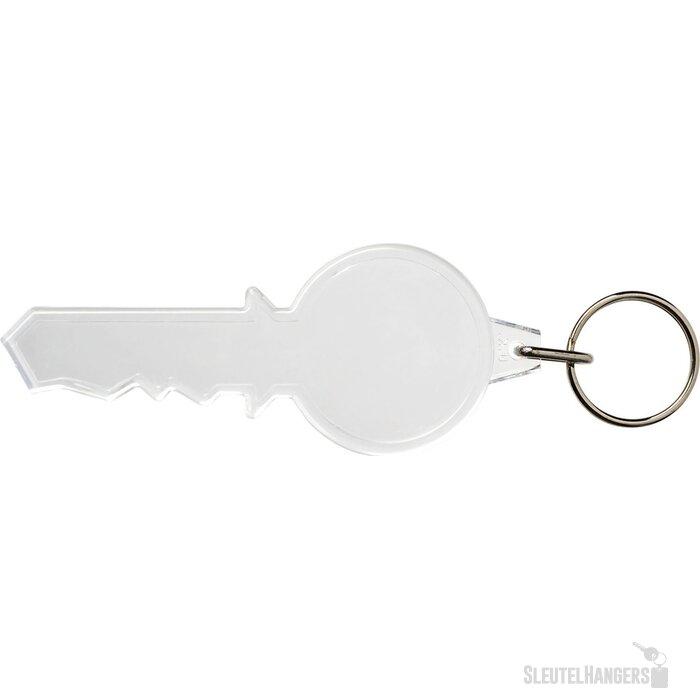 Combo sleutelvormige sleutelhanger Transparant