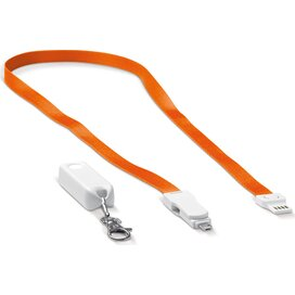 Keycord en oplaadkabel kabel 3-in-1 Oranje