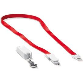 Keycord en oplaadkabel kabel 3-in-1 Rood