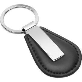 Sleutelhanger Perris Round zwart, zilver
