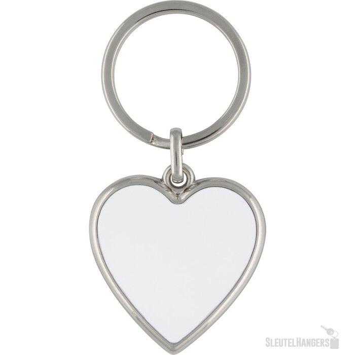 Sleutelhanger Oviedo zilver, wit