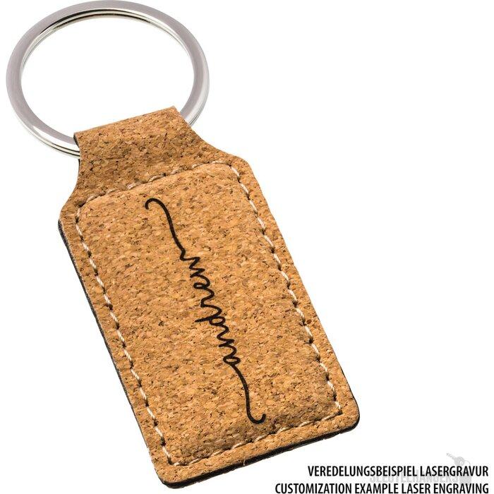 Sleutelhanger Palaiseau-Rectangular bruin